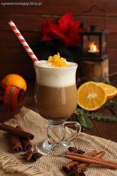 Kawa pomarańczowo-waniliowa Can I Eat, Coffee Beans, Hot Chocolate, Coffee Shop, Smoothies, Pudding, Sweets, Drinks, Ethnic Recipes