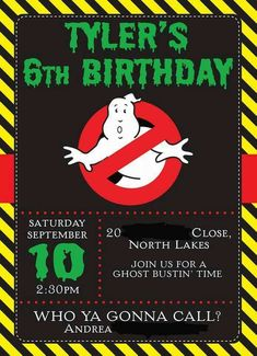 Ghostbusters Birthday Party Invitation?                                                                                                                                                                                 More
