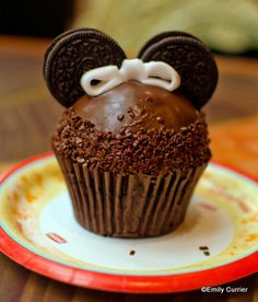 Minnie Mouse Cupcake from Captain Cook's in the Polynesian Resort Walt Disney Theme Parks and Resorts