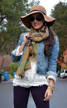 spun by subtle luxury scarf via Kitties + Couture