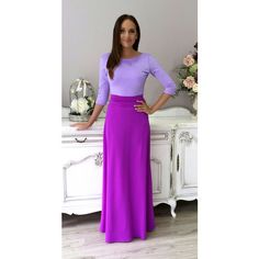 Lilac- Light Purple Maxi Women's Dress Back Plunge ($90) ❤ liked on Polyvore featuring dresses