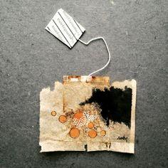 silvirub: 363 days of tea. Day 123. #recycled #teabag #art