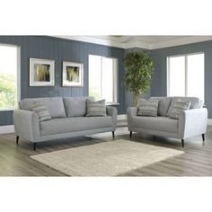 Gracy Sofa - Effortlessly blending mid-century design with today's fashion, the Gracy Sofa is a standout piece. Living Room Goals, Living Room Decor, Small Space Living, Small Spaces, Wolf Furniture, Contemporary Pillows, Sofa And Loveseat Set, Exposed Wood, Mid Century Design