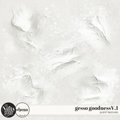 Gesso Goodness Vol.1.  What a perfect pack for adding just a touch of gesso goodness to your backgrounds or elements. Are these destined to be your 'go to' paint pack?  PACK INCLUDES:  5X Gesso Textures (.png) All products are saved at 300ppi for optimum printing quality. This is a Personal Use product. Please read our TERMS OF USE.