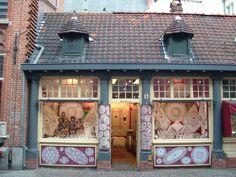 Quaint shops of Bruges
