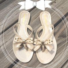 "Spotted while shopping on Poshmark: ""Nude bow sandals""! #poshmark #fashion #shopping #style #laundry list #Shoes"