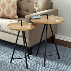 "Named for the Hindi word meaning ""strength,"" our Takat Nesting Tables make a…"