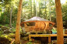 wood yurt