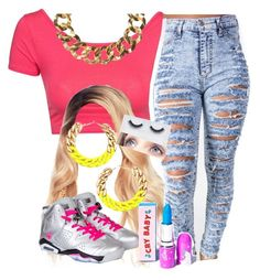 """""""The Trill Dolls Performance (My outfit)"""" by trillest-queen ❤ liked on Polyvore featuring moda, Club L, Kenneth Jay Lane, Georgie Beauty e Lime Crime"""