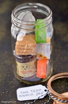 Gift in a jar for tea lover gift jars pinterest jar gift and presentes no vidro 11 idias legais solutioingenieria Images