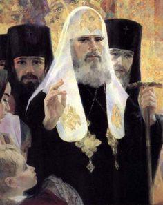 Georgy Shishkin_Portrait of the all-Russian Patriarch Alexiy II. x 70 cm. Portrait, Painting, Art, Art Background, Headshot Photography, Painting Art, Kunst, Portrait Paintings, Paintings