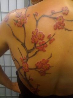 39702febdc229 31 best Cherry Blossom Tattoo On Shoulder images in 2017 | Cherry ...