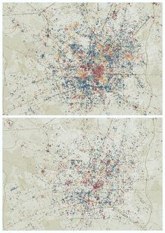 Emily Badger (2013). Mapping the 'Time Boundaries' of a City [Online Image]. Retrieved January 29, 2017 from http://doctorcrowd.tumblr.com/post/150687115392/metropolitanatlas-milano-daytime-weekend