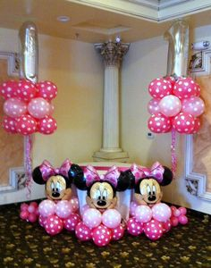 Minie Mouse Party, Minnie Mouse Birthday Decorations, 2nd Birthday Party Themes, Minnie Mouse Baby Shower, Mickey Birthday, Minnie Maus Ballons, Mouse Parties, Balloon Decorations, Husband Surprise
