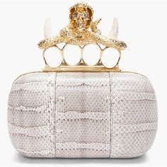 Alexander Mcqueen Snake Skin Knuckle Box Clutch  I need to be able to afford Alex!!
