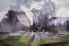 Callum Arnold paints Melbourne from many perspectives/ time frames
