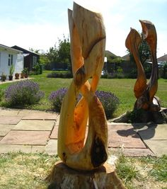 Tree stump carving | Tree carving ideas for my beau, Brad ️ ...