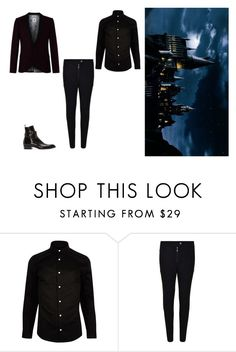 """""""Ball - Jjongp"""" by esms ❤ liked on Polyvore featuring River Island, Belstaff, Yves Saint Laurent, men's fashion and menswear"""