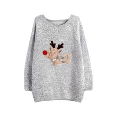 Dorathy Women Gray Reindeer Coat Winter Knitwear Pullover Sweater Top -- Awesome products selected by Anna Churchill