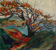 Lone Cedar Post-Impressionist artist Emily Carr was born in Victoria, BC in At that time the early settlement was a few thousand s. Tom Thomson, Canadian Painters, Canadian Artists, Klimt, Landscape Art, Landscape Paintings, Landscape Design, Emily Carr Paintings, Vancouver Art Gallery