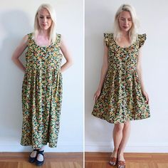 Does it get better than a sunflower dress? Newly refashioned dress is listed on etsy! Size M-L (Shop link in bio) *sold*