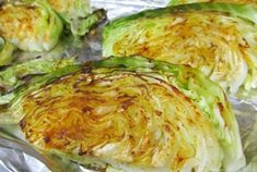 Chicken and Cabbage Healthy Side Dishes, Vegetable Side Dishes, Vegetable Recipes, Vegetarian Recipes, Cooking Recipes, Healthy Recipes, Grilled Cabbage, Roasted Cabbage, Dash Recipe
