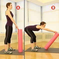 Use a Foam Roller tool for a muscle-toning circuit workout Foam Roller Exercises, Back Exercises, Aerobics Workout, Pilates Workout, Workout Routines, Workout Dumbell, Pilates Ring, Post Workout, Fit Board Workouts