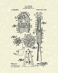 Patent Framed Prints - Rocket 1914 Patent Art Framed Print by Prior Art Design