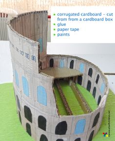 LAST MINUTE SCHOOL PROJECT : Making a model of the Colosseum using cardboard.