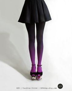 BZR Ombré tights in Fuchsian Violet by BZRshop on Etsy