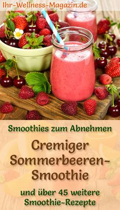 Latest No Cost Summer berry smoothie - healthy slimming recipe Tips Healthy Smoothie Menu Everybody loves a great smoothie , but not everybody really thinks about the Detox Breakfast, Breakfast Smoothies, Healthy Smoothies, Smoothie Recipes, Healthy Recipes For Weight Loss, Weight Loss Meals, Weight Loss Smoothies, Losing Weight, Water Recipes