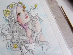 princess of birds by Juliana Rabelo, via Behance