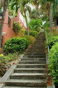 99 Steps- downtown Charlotte Amalie, St. Thomas, USVI