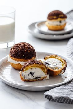 Cookies 'n Cream Puff Ice Cream Sandwiches | Love and Olive Oil