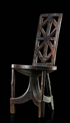 Africa | Prestige chair from the Gurage people of Ethiopia | Wood