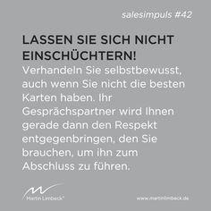 #salesimpuls #42 - Lassen Sie sich sich nicht einschüchtern!  www.martinlimbeck.de