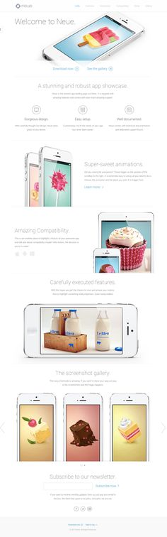 'Neue' is an elegant responsive one page template with crisp device shots perfect for making your app look beautiful.