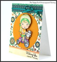 Get Well Soon card with My Thoughts Exactly & La La Land Tricycle Marci