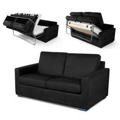 Canapé convertible tissu microfibre Mécanisme Dormiro Presto 2 places FASTO port offert Convertible 2 Places, Sweet Home, Couch, Furniture, Studios, Home Decor, Shopping, Sleeper Couch, Sofa