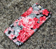 Vintage Red Floral Roses iPhone 6s Case iPhone 6 plus Case iPhone 5S 5 iPhone 5C Samsung Galaxy S6 edge S6 S5 S4 S3 Note 3 Case 018