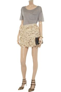 Valentino Tiered silk-gauze and lace skirt - 55% Off Now at THE OUTNET