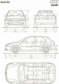 Audi A3, Audi Sport, Car Sketch, Car Drawings, Cars And Motorcycles, Cool Cars, Transportation, Blue Prints, Model Car