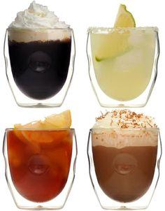 Moderna Artisan Series 8 oz. Double Wall Beverage Glasses