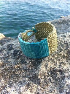 Macrame cuff bracelet, macrame jewelry, friendship macrame bracelet, boho macrame, boho jewelry, boho bracelet by MardijewelryStore on Etsy