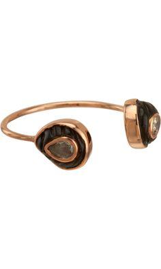 Dezso by Sara Beltran Coral & Diamond Petite Chione Cuff Ring