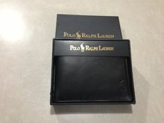 Polo Ralph Lauren Passcase Wallet by Ralph Lauren. $50.00. Includes double billfold, three-card slots and removable ID flip case, in textured leather.  Color: Cognac.