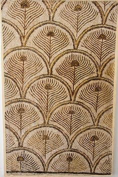 Mosaic of Peacock Feathers, museum in El Jem, Tunisia