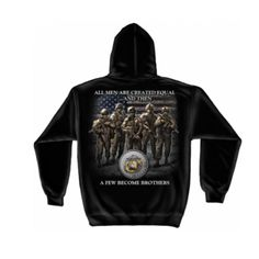 The back of our #USMC Brotherhood Hooded Sweatshirt says it all. Shop now at emarinepx.com, Marine Veteran owned officially licensed gear. #emarinepx #sweatshirt #marines Tee Shirt Designs, Long Sleeve Tee Shirts, Usmc, Marines, Black Men, Hooded Sweatshirts, Hoods, Men Sweater, Sweater Hoodie