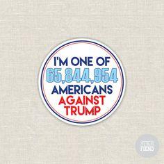 I'm one of 65 million anti-Trump vinyl sticker