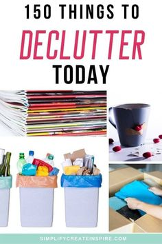Declutter your house quickly with this huge list of things to throw away now. Decluttering made easier with easy things you can declutter, throw out, donate or sell from your home to make a huge impact towards your goal of minimalism or just having less stuff. This is the perfect way to declutter when feeling overwhelmed and not sure how to get started. 150 things to throw away today. Home Organisation, Life Organization, Minimalist Living Tips, Making Life Easier, Declutter Your Home, Bath Toys, Feeling Overwhelmed, Decluttering, Simple Living